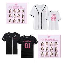 KPOP IZONE T-Shirt IZONE members birthday should support the surrounding clothing the same short-sleeved baseball shirt men's and women's shirts CHAEYEON