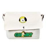 KPOP BTS Shoulder Bags Bangtan Boys Cute Cartoon Pattern BT21 Shoulder Bag COOKY KOYA TATA