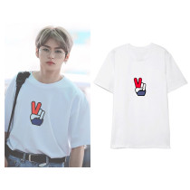 Kpop STRAY KIDS T-shirt LEE KNOW Airport private clothing with short sleeves,shirt,LEE KNOW