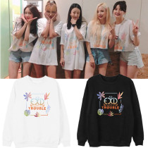 Kpop  EXID Sweater 2019 Summer Live TROUBLE Concert 7th Anniversary Round Collar Sweater Spring and Autumn