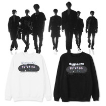 Kpop SUPER M sweater official same paragraph round neck sweater spring and autumn Taemin, MARK ,LUCAS