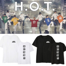 Kpop H.O.T. T-shirt Concert 2019 High five Of Teenagers Around the same short-sleeved T-shirt