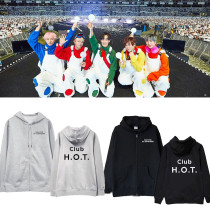 Kpop H.O.T. Sweater concert 2019 High five Of Teenagers the same style sweater hooded cardigan