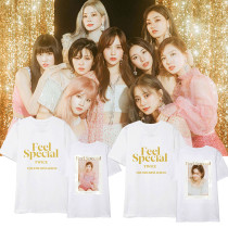 Kpop TWICE combination short-sleeved album FEEL SPECIAL same paragraph short-sleeved T-shirt Korean version of the loose men and women shirt