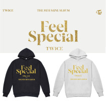 Kpop TWICE sweater FEEL SPECIAL album with the same paragraph hooded sweater plus velvet new Korean version of the loose jacket