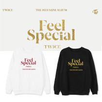 Kpop TWICE combination sweater album FEEL SPECIAL same paragraph round neck sweater plus velvet thin sweater