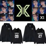 Kpop X1 Sweater album concert birthday  the same style sweater zipper hooded cardigan jacket