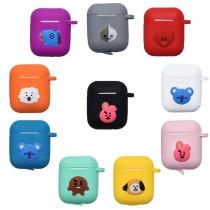 Kpop BTS Bangtan boys Headphone Box Cartoon Cute Doll Candy Color Bluetooth Headset KOYA,TATA