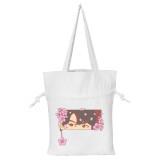Kpop BTS Shoulder Bag Bangtan Boys Headwear White Canvas Drawstring Bag V SUGA