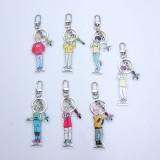Kpop BTS Bangtan Boys Keychain Q Edition Creative Transparent Pendant Key Chain Men and Women Students Small Gifts