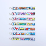 Kpop BTS Keychain Bangtan Boys Name Cartoon Cute Pendant Keychain Mobile Lanyard Bag Streamer