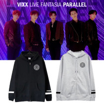Kpop VIXX Sweater Concert LIVE FANTASIA PARALLEL Sweater zipper hooded cardigan