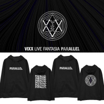 Kpop VIXX Sweater Concert LIVE FANTASIA PARALLEL Same Sweater Turtleneck Hoodie Plus Velvet Thin Sweater