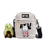Kpop BTS Shoulder Bag Bangtan Boys BT21 Shoulder Bag Cute Hand-painted Pattern COOKY,KOYA,TATA