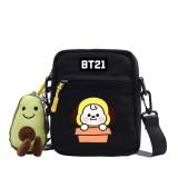 Kpop BTS Shoulder Bag Bangtan Boys BT21 Shoulder Bag Cute Pattern KOYA TATA COOKY
