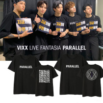 Kpop VIXX T-shirt Concert LIVE FANTASIA PARALLEL same short-sleeved T-shirt