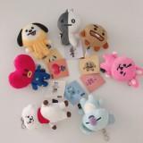 Kpop BTS Keychain Bangtan Boys Cartoon Cute Doll Pendant Keyring Creative Korean CHIMMY KOYA