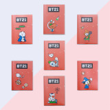 Kpop BTS Notebook Bangtan Boys Halloween New Plastic Case Small Book Student Writing Book Notepad