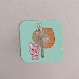 BTS Bangtan Boys Hook Cartoon Cute Sticky Hook Transparent Kitchen Bathroom Studless No Trace Hook