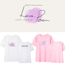Kpop IU 11th Anniversary Concert Album Love Poem Same Style Short Sleeve T-Shirt