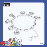 Kpop BTS Bracelet Bangtan Boys Official Same section Latest Cartoon Bracelet Bracelet Simple Fashion Men and Women Jewelry