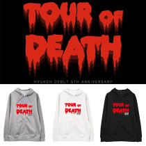 Kpop HYUKOH Sweater 5th Anniversary Tour of Death Same section Sweaters Hooded Hoodie