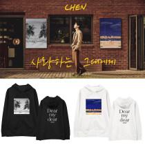 Kpop EXO Sweatshirt CHEN Album Dear my dear Same section Sweater Turtleneck Hoodie Sweatshirt