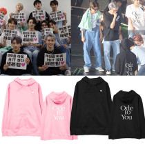 Kpop SEVENTEEN Sweater Concert ODE TO YOU Same section Sweater Hooded hoodie Plus velvet Thin Hoodie Sweatshirt