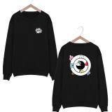 Kpop BTS Sweater B angtan Boys New Round Collar Sweater Korean version Loose long sleeves Bottoming shirt VAN