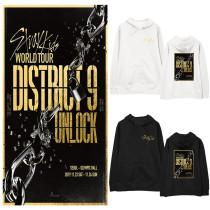 Kpop Stray Kids Sweater World Tour District 9 Unlock Hooded Sweater Coat