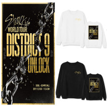 Kpop Stray Kids Sweater World Tour District 9 Unlock Surroundings Round Collar Sweatshirt
