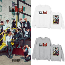 Kpop Stray Kids Sweater Double Knot New Album Peripheral Round Neck Sweater Joker Spring and autumn Tops