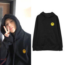 Kpop SUPER M Sweater SHINee Taemin Same section Hoodie Sweater Plus velvet Thin section Loose