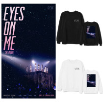 Kpop IZONE Sweater EYES ON ME Concert Movies Around Round Collar Sweater Loose Spring and Autumn Tops
