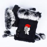 Kpop BTS Gloves Bangtan Boys Cute Cartoon Same Deer Buckle Warm Gloves Plush Gloves