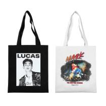 Kpop  Super M  Shoulder Bag Korean Version Wild Canvas Bag Handbag Student Fashion Bag