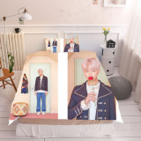 Kpop 3Pc/Set BTS Bangtan Boys Quilt Cover Sheets MAP OF THE SOUL Album Bedding Three-Piece