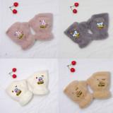 Kpop BTS Gloves Bangtan Boys New Cute Rabbit Plush Warm Half Finger Gloves Cute Female Autumn Winter Gloves