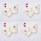 Kpop BTS Gloves Bangtan Boys New Cute Rabbit Plush Warm Half Finger Fall Winter Gloves