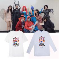 Kpop TWICE T-shirt ONCE HALLOWEEN Concert Cartoon Print Same paragraph Short long sleeve T-shirt