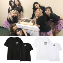 Kpop TWICE T-Shirt TWICELIGHTS Concert Same T-Shirt Short Sleeve Men and Women Bottoming Shirt