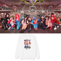 Kpop TWICE Sweater Concert ONCE HALLOWEEN Cartoon Print Same Paragraph Round Neck Sweater