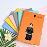 Kpop BTS Bangtan Boys Notebook Uniforms Hand-painted New Notebooks Faux Leather Diary Student Supplies