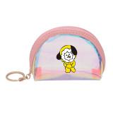 Kpop BTS Bangtan Boys Halloween Laser Color Clutch Cartoon Pendant Bag Student Coin Purse