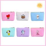 Kpop BTS Wallet Bangtan Boys Wallet Cute Card Bag Student Wallet Coin Purse CHIMMY COOKY KOYA