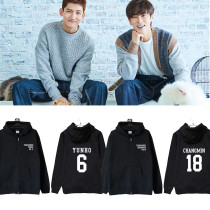 Kpop TVXQ 15th Anniversary Concert Hoodie Sweater Cardigan Zipper Spring and Autumn Jacket