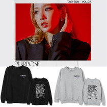 Kpop Girls' Generation Sweatshirt Taeyeon Album PURPOSE Round Collar Sweater Spring and Autumn Tops