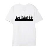 Kpop BTS Short Sleeve Bangtan Boys T-Shirt New Hand-painted Portrait Print Bottoming Shirt