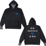 BTS Sweater Star Peripheral BLACKPINK High Collar Fake two-piece Stripe Sweater Turtleneck Jacket