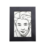 Kpop BTS Bangtan Boys photo frame sketch photo wall bedroom living room solid wood decoration 5 inch 8 inch wholesale